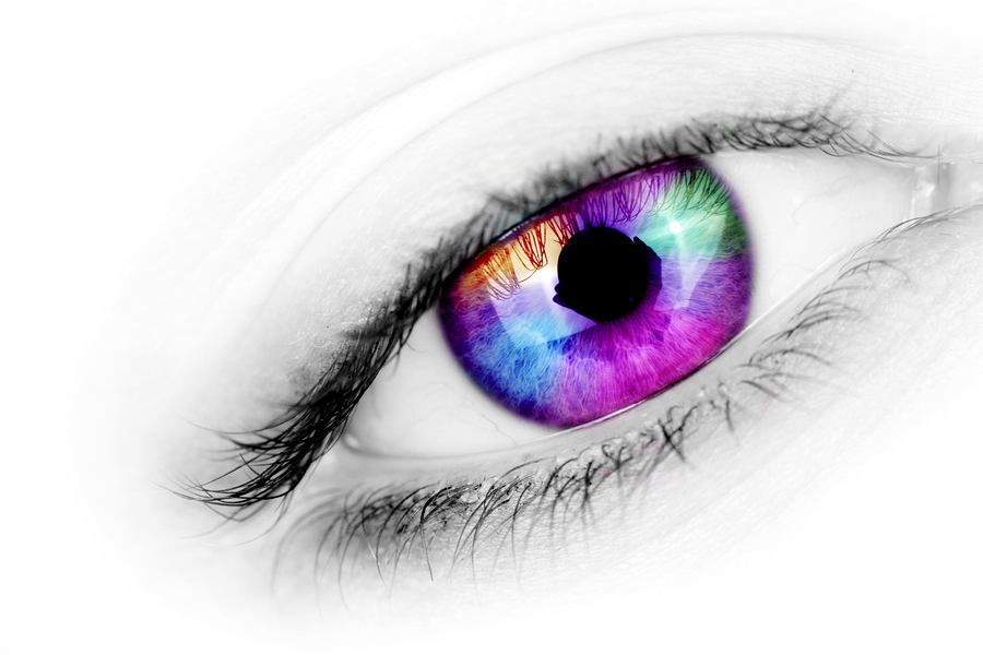 bigstock Multicolored Eye 5069245 - Färgade linser