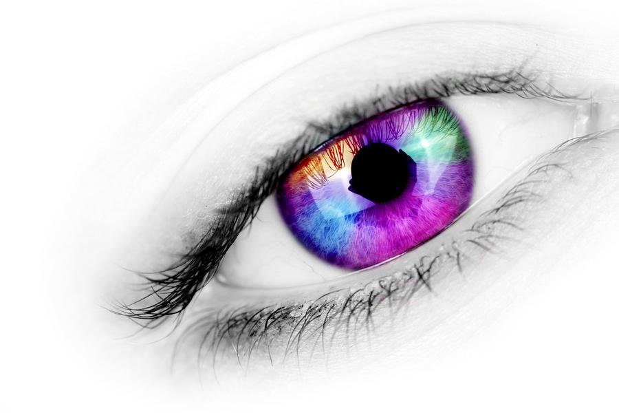 bigstock Multicolored Eye 5069245 - Färgade linser